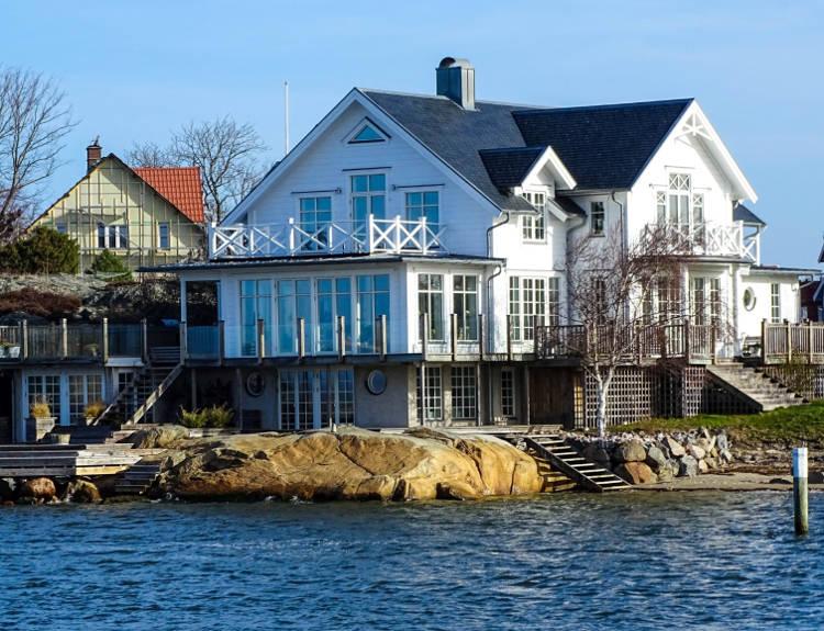 Hus med nytt tak i Göteborg